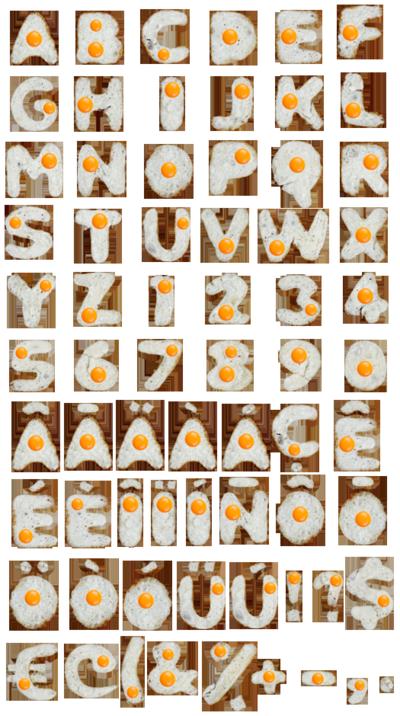 Eggs-font-alphabet